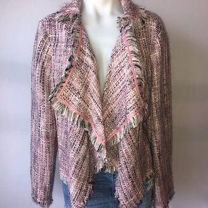 """INC international pink """"tweed look"""" blazer"""